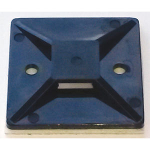 ISL 40x40mm Cable Tie Mounting Base - Black - 100pk
