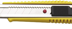 L-300RP Snap-Off Cutter 18mm Blade Auto-Lock Yellow
