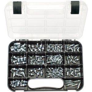 GJ GRAB KIT 144PC MM/SAE GREASE NIPPLES