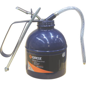 GROZ 200ML/6OZ OIL CAN W/ FLEX & RIGID SPOUT