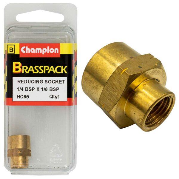 Champion Brass 1/4in x 1/8in BSP Reducing Socket