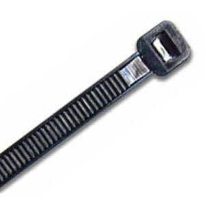ISL 300 X 4.8MM UV NYLON CABLE TIE - BLK. - 1000PK