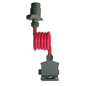 LED ADAPTOR COIL 7-PIN RND SKT TO 7-PIN FLAT PLUG