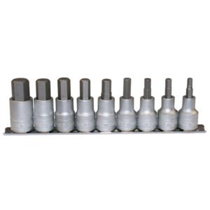 TENG 9PC 1/2IN DR. HEX SOCKET SET 5-17MM