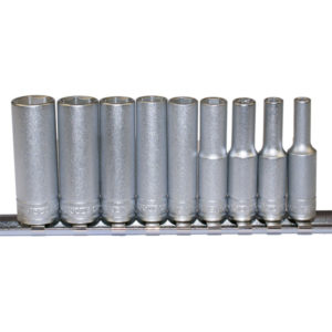 TENG 9PC 1/4IN DR. MM DEEP SOCKET SET 4-13MM 6PNT
