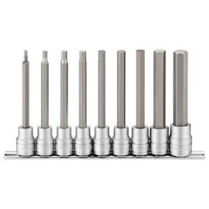 Teng 9pc 3/8in Dr. Long Hex Bit Socket Set - 3-12mm
