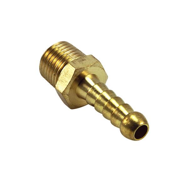Brass 3/8in x 1/2in Male Hose Barb