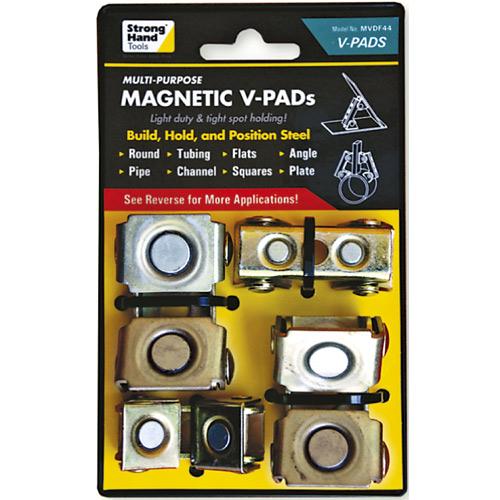 MVDF44 Adjustable Magnetic V Pads 8kg Pull Force 4pc