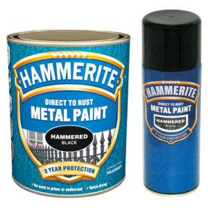 Hammerite Hammered 5litre Black