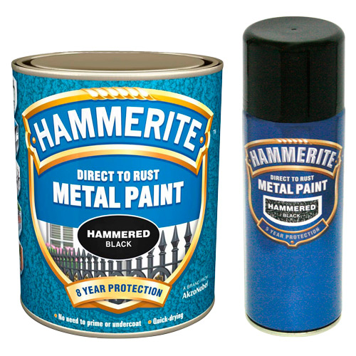 Hammerite Hammered 750ml White