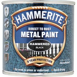 Hammerite Hammered 250ml Black