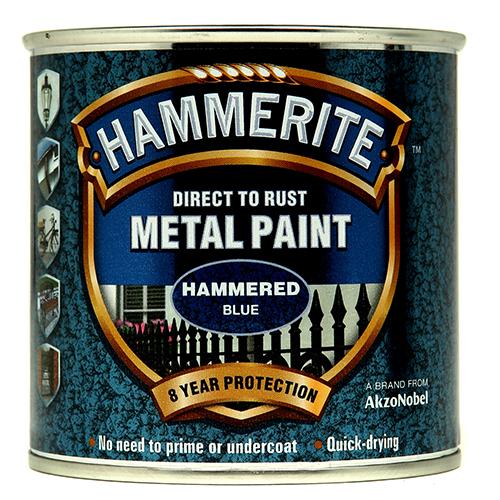 Hammerite Hammered 250ml Blue