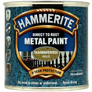 Hammerite Hammered 250ml Gold