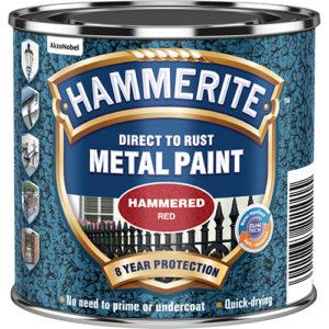 Hammerite Hammered 250ml Red