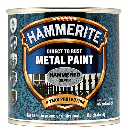Hammerite Hammered 250ml Silver