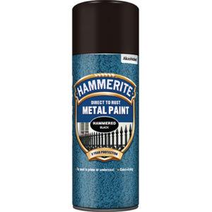 Hammerite Hammered 400ml Aerosol Black
