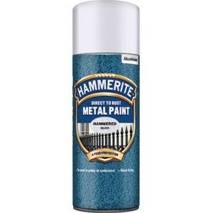 Hammerite Hammered 400ml Aerosol  Silver