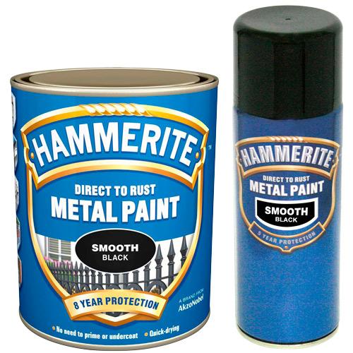 Hammerite Smooth 400ml Aerosol Black