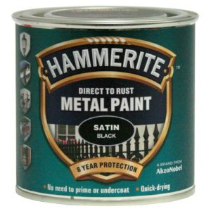 Hammerite Satin 400ml Aerosol Black