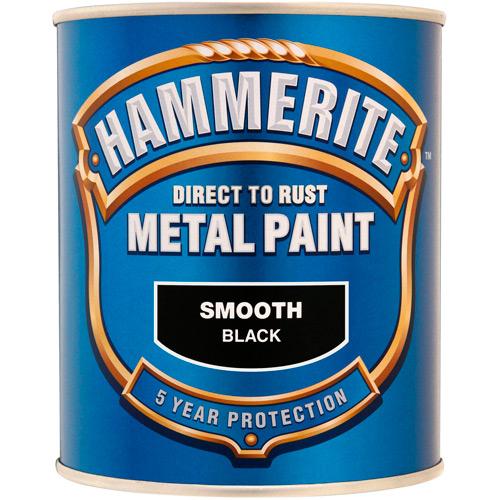 Hammerite Smooth 750ml Black