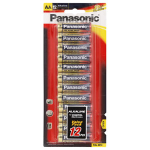PANASONIC AA BATTERY ALKALINE (12PK)