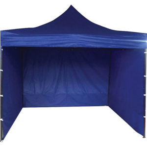 3M X 3M POP-UP HEAVY DUTY GAZEBO W/CARRY BAG -BLUE