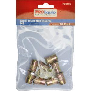 ProEquip M8 Steel Rivet Nut Inserts - 10pk