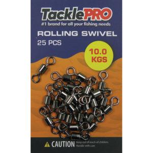 TacklePRO Rolling Swivel 10kg - 25pc