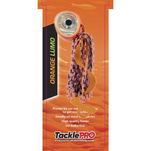 TacklePro Kabura Lure 140gm - Orange Lumo