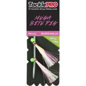 TacklePro Mega Bite Rig Pink & Lumo - 2/0 Recurve Hook