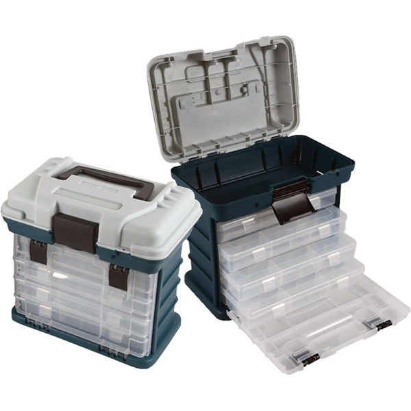 TacklePro Plastic Four-Tray Tackle Box