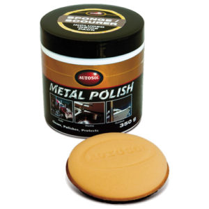 1035 Autosol Polish (350g) 265ml Tub with Scourer Sponge