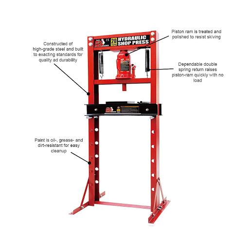TY20011 Hydraulic Press 20 Ton 150mm Stroke