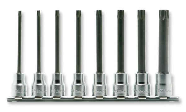 "RS3025-100 Torx Bit Socket Set On Rail 8pc 3/8""Dr T20-T55"
