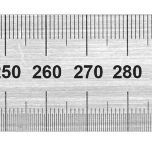 1850 Stainless Steel Rule 450mm Metric Only / Conversion Table