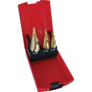 Unikut 3Pc Spiral Flute Step Drill Set-4-30mm