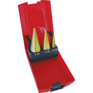 Unikut 3Pc Straight Flute Step Drill Set-4-30mm