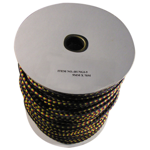 Bungi Cord 9mm x 70metre (Black Only)