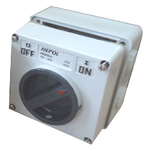 20A 2 POLE 250V SURFACE SWITCH MODULE IP66