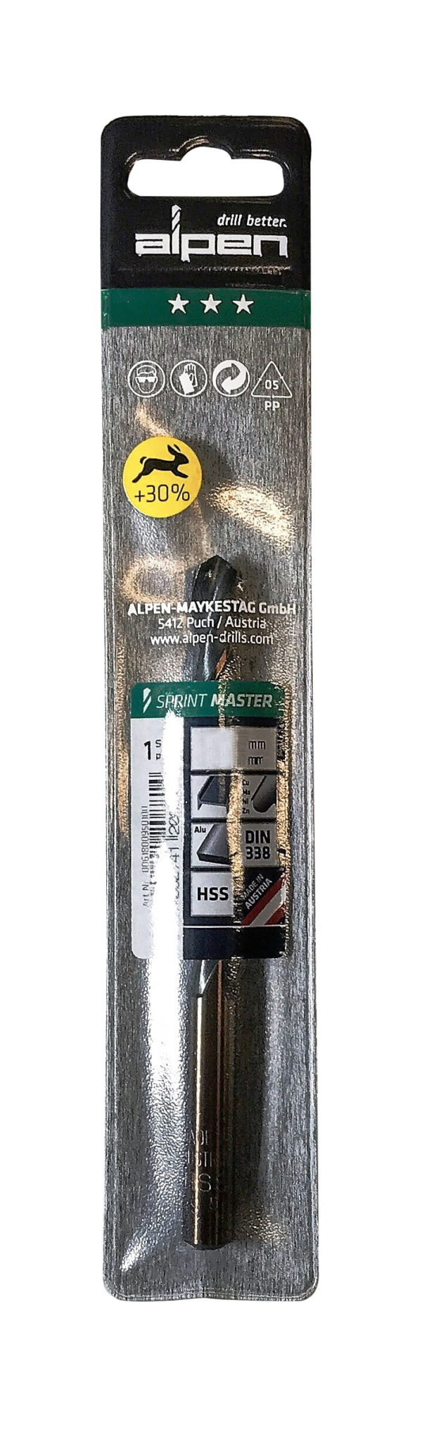 Alpen Series 631 Sprint Master Ø 6.0 (Pkt of 10) With Hang Tag