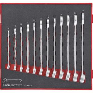 12PC ROE ANTI-SLIP COMB. SPANNER SET 8-19MM