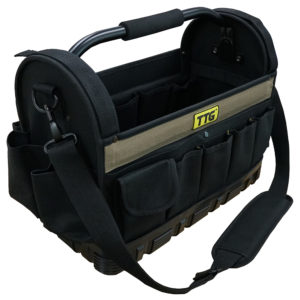 TTG 16in Open Top Tool Bag w/ Moulded Rubber Base