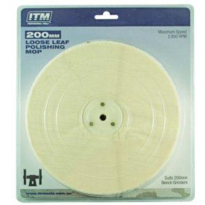 ITM Polishing Mop Loose Leaf 50 Fold 200 x 25mm