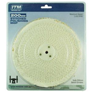 ITM Polishing Mop Stitched 50 Fold 200 x 25mm