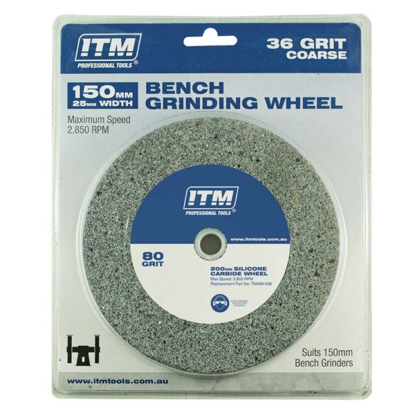 ITM Grinding Wheel Aluminium Oxide 150 x 25mm 36 Grit Coarse