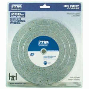 ITM Grinding Wheel Aluminium Oxide 200 x 25mm 36 Grit Coarse