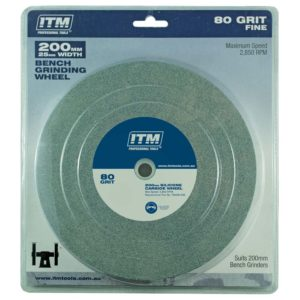 ITM Grinding Wheel Silicone Carbide 200 x 25mm 80 Grit Fine