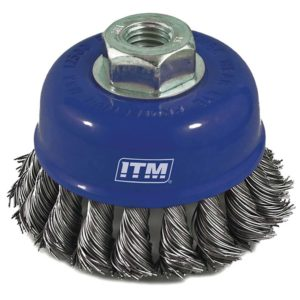 ITM Twist Knot Cup Brush Steel 50mm