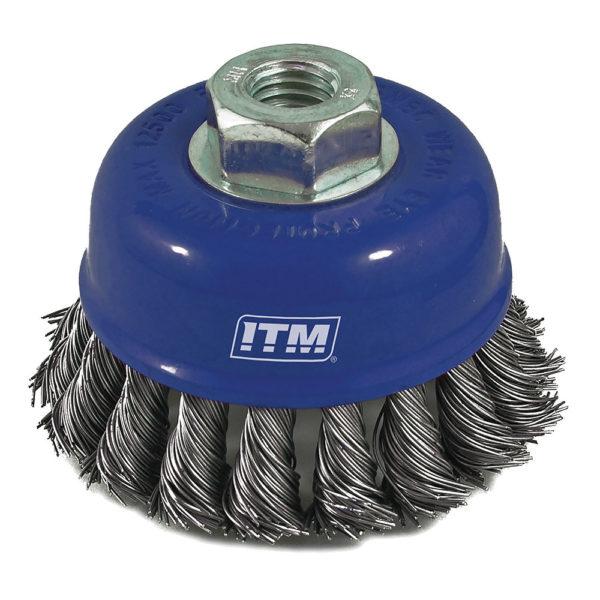ITM Twist Knot Cup Brush Steel 75mm