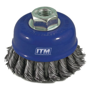 ITM Twist Knot Cup Brush Stainless Steel 100mm